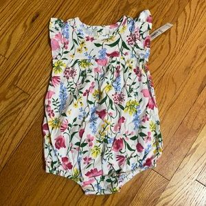 Girls Old Navy floral 1 piece 18-24 months NWT